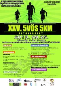 XXV. 5vös 5km plakát