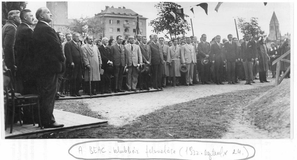 A BEAC Klubház felavatása 1932. szeptember 24-én