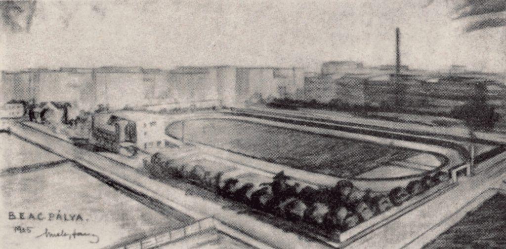 A BEAC pálya távlati képe – Misley Sándor, a BEAC korábbi vívójának tervei